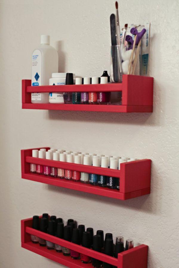 Expositor de esmaltes, simples e fácil de fazer.