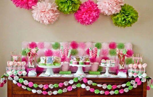 Déco en rose et vert