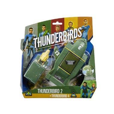 Thunderbirds 2-delige voertuigenset Thunderbird 2  Ga op nieuwe avonturen met deze Thunderbirds 2-delige voertuigenset! De set bestaat uit een Thunderbird 2 en een Thunderbird 4.  EUR 11.98  Meer informatie