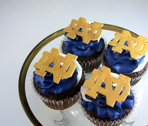 Notre Dame Football Birthday Cakes | Chocolate Notre Dame Cupcakes