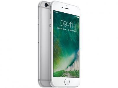 """iPhone 6s Apple 16GB Prata 4G Tela 4.7"""" Retina - Câm. 12MP + Frontal 5MP iOS 10 Proc. Chip A9 com as melhores condições você encontra no Magazine Jsantos. Confira!"""