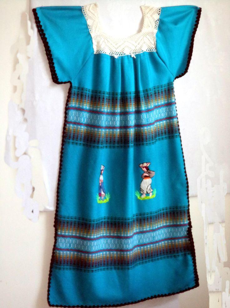 Vintage-Ethnic-MEXICAN-Oaxaca-DRESS-Woven-Village-Peasant-Blanket-DRESS Womens  M L by MushkaVintage3 on Etsy