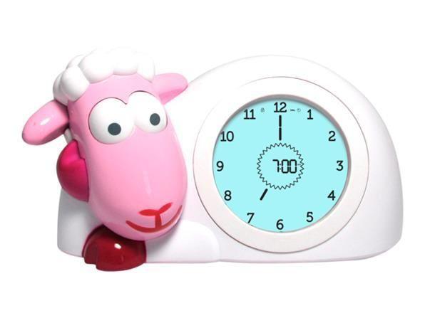 Zazu Sam the Sheep Sleep Trainer Clock - Pink