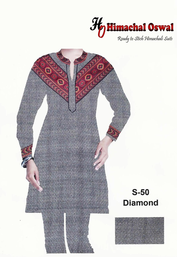 Himachali Traditional design ready to stich suits new product