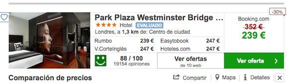 Oferta Hotel Park Plaza Westminster Bridge London