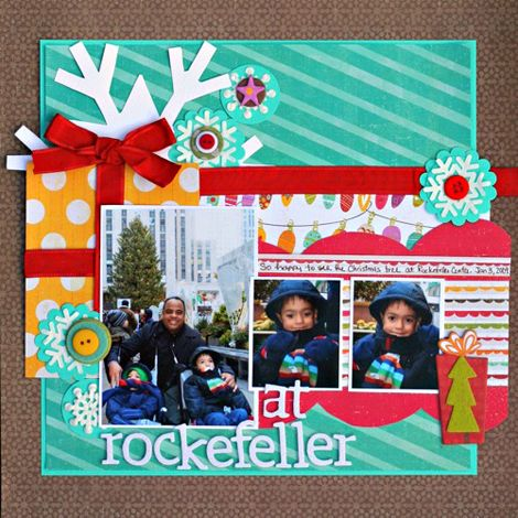 At Rockefeller - lovely layout #christmas #scrapbooking #cratepaper