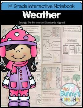 The Weather Interactive Notebook allows students to play an active role in their learning. The activities in this resource can be used to introduce or practice the Georgia Performance Standard: S1E1 Students will observe, measure, and communicate weather data to see patterns in weather and climate.a.