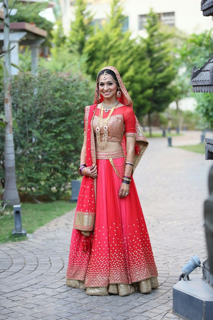 My red/pink/coral bridal lehenga 2015