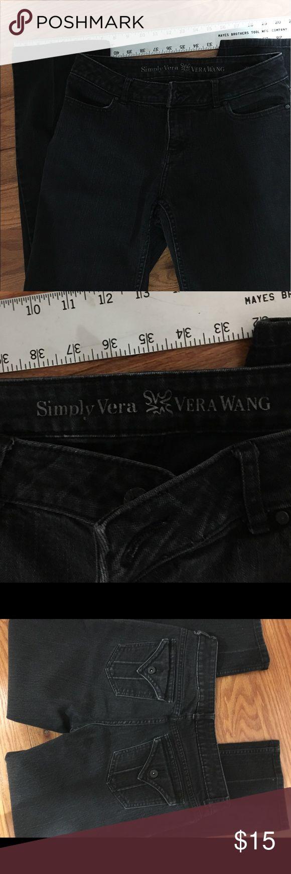 Simply Vera Vera Wang Jeans Simply Vera Vera Wang Black Jeans, Size 8, straight leg. Smoke Free Owner/Home. Simply Vera Vera Wang Jeans Straight Leg