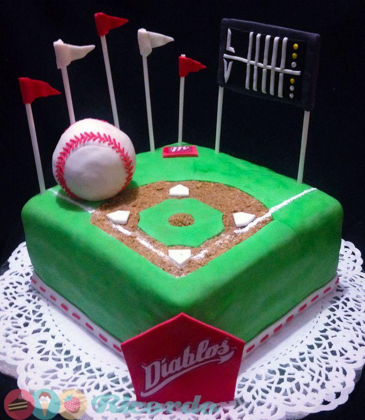 Diamante de béisbol  Divertido pastel para los amantes de este deporte.  #catalogoRICORDO