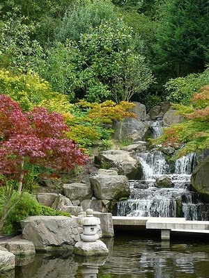 The Kyoto Peace Garden in Holland Park. It's a haven in the middle of the city, and luckily, it's across the road from HQ!