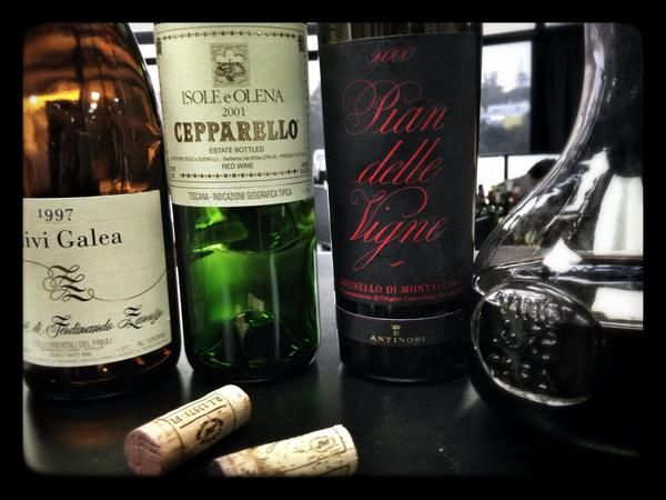 Friday Italian #wine tasting @winesearcher  Friuli 1997 white, Tuscan Reds, #Brunello Perfect... !!
