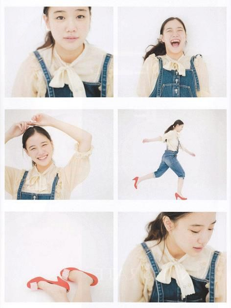 Aoi yu's overall with ribbon blouse