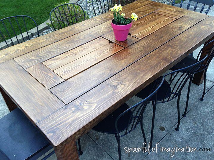 DIY Tisch im Freien
