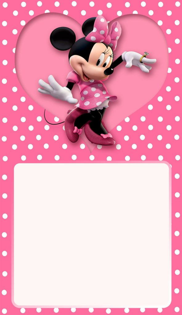 Minnie Mouse Birthday Party Invitation Invitaciones Minnie