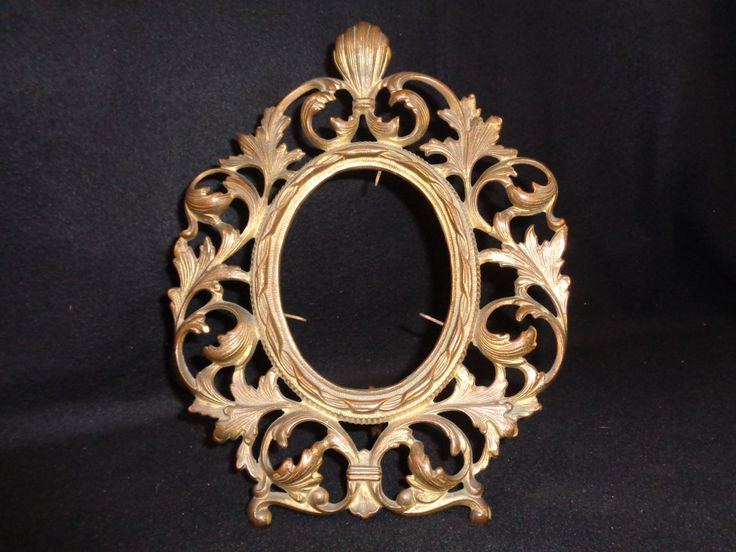 Gilded Rococo Oval Photo Frame, Ornate Victorian Frame by FairchildsInc on Etsy