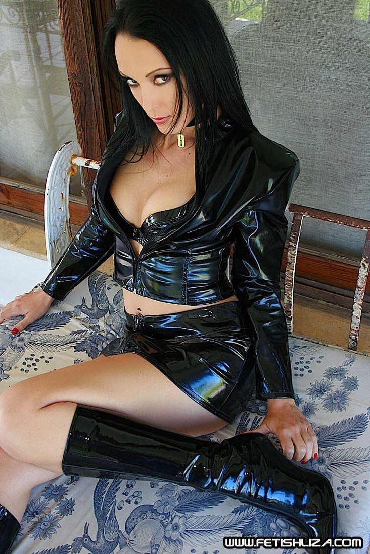 clothes in latex woman