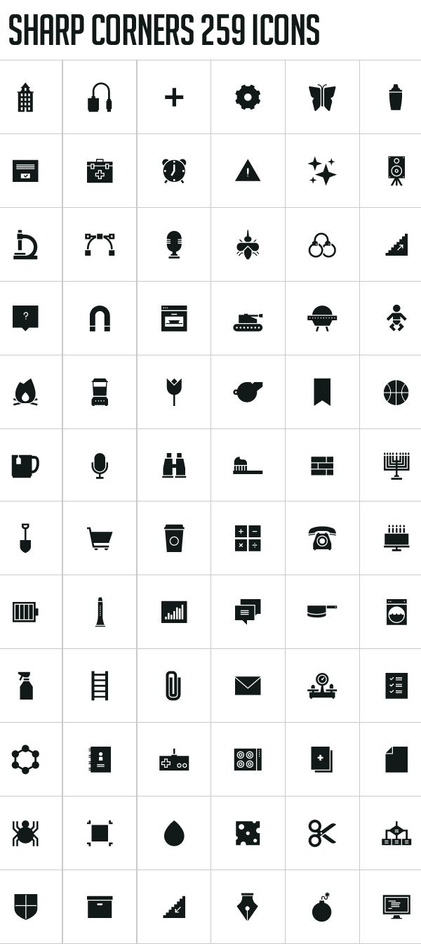 300 Pixel-Perfect Free Icons by Shannon E Thomas