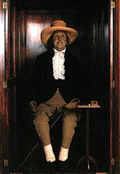 After his 1832 death, Jeremy Bentham's corpse was preserved, as was his wish, at University College London. It's a macabre excursion but you can see it at the university's Gower Street space, seated in a glass-fronted cabinet. The body and clothing are the real deal; the head is a waxwork put in place after his real one was stolen by students.