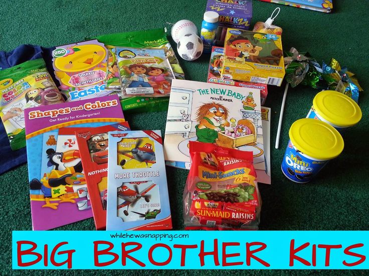 Big (Sibling) Kits.  Great for the older kids when you're delivering.  Whether they are at the hospital with you or with a sitter, this will help keep them entertained while they're waiting for their new sibling.