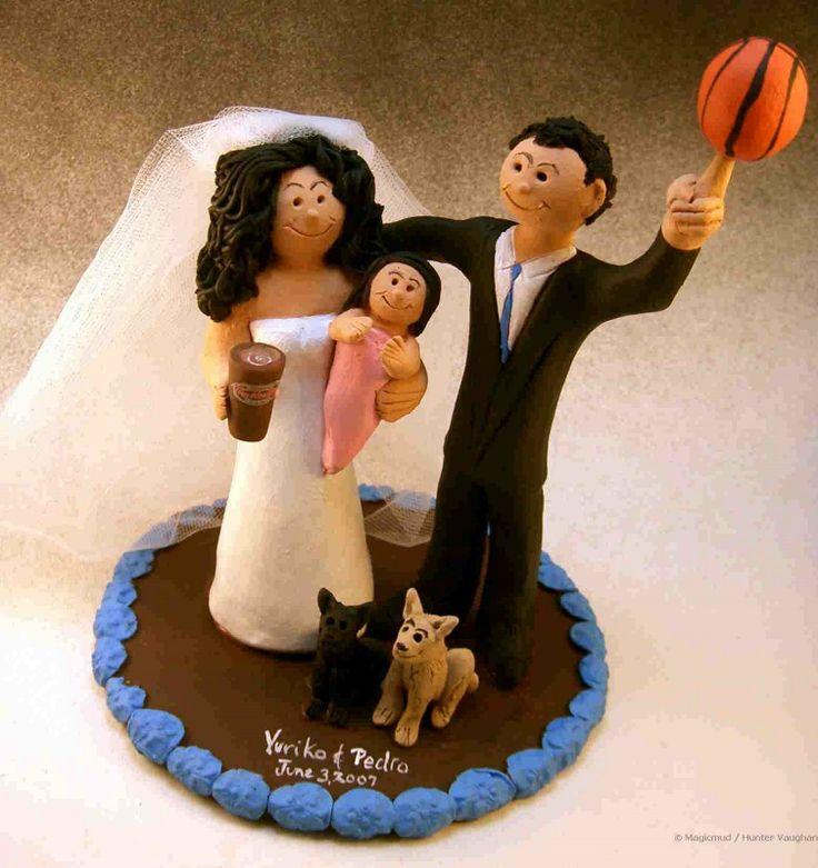 Video - Basketball Wedding Cake Toppers  ..Slam Dunk!! for true love with these custom made wedding cake toppers, handmade for basketball fans and players alike!....if you want to be in team jerseys or gown and suit...or a combination of those...with a basketball, pennant, beer or foam finger!! $235#basketball#college#team#jersey#NBA#wedding #cake #toppers  #custom #personalized #Groom #bride #anniversary #birthday#wedding_cake_toppers#cake_toppers#figurine#gift#video