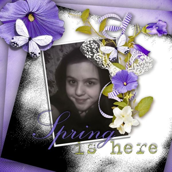 Freebie by Lilas design of her new kit LAVENDER MEADOW