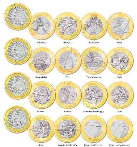 Moedas Comemorativas 1 Real Olimpíadas Rio 2016 + Brinde - R$ 4,89
