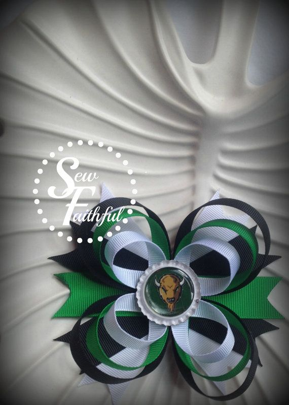 Marshall University Bottle Cap Bow. $5.50, via Etsy.: Bottle Cap