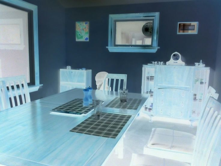 My Dining room in Negative (a camera mode!)