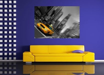 Tablou taxi galben in New York - cod G32