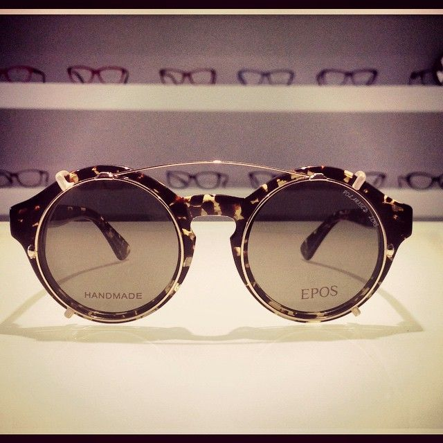 Titano with Clip-On.  A pic by Ottica Poffe. #epos #eyewear #sunglasses #vintage