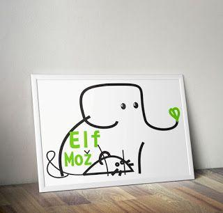 Elephant Nursery Printables - Elf & Mozz