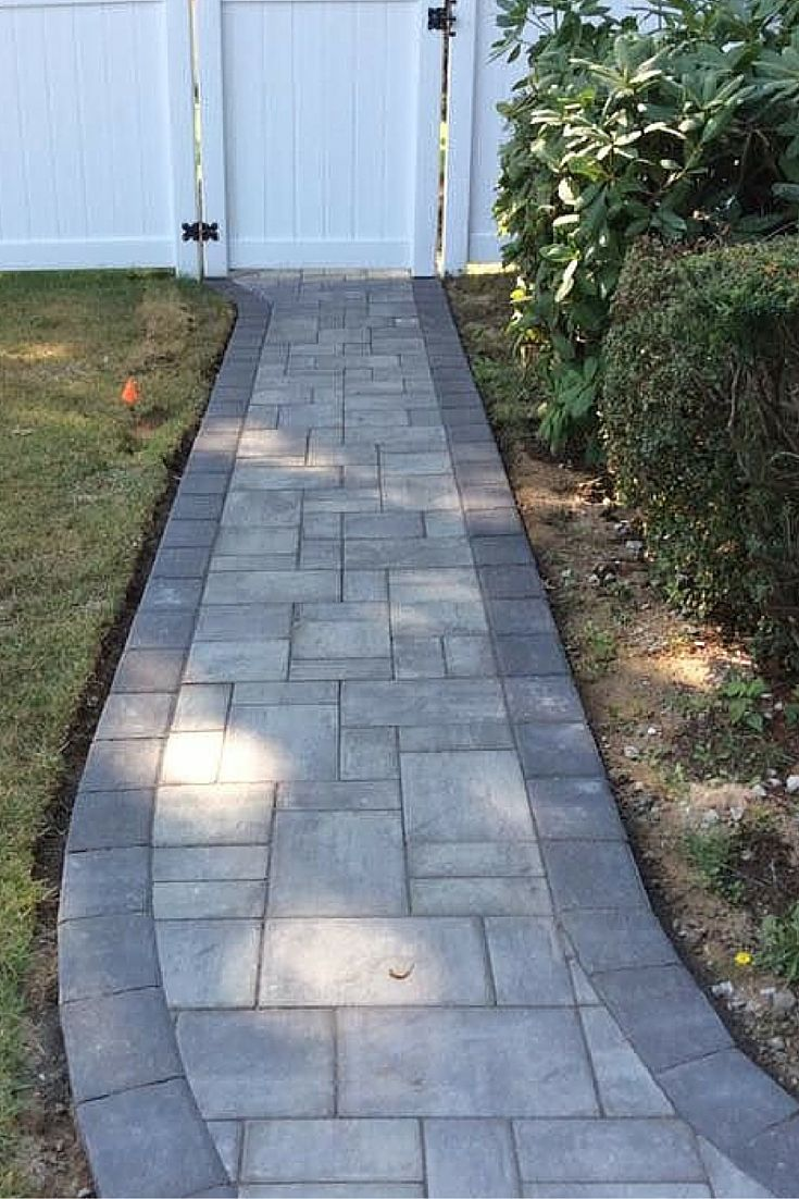 Cambridge pavingstones wall systems color options - Where Would Your Walkway Lead You This Walkway Was Installed By Fine Design Landscaping Using Walkwaycambridgelandscaping