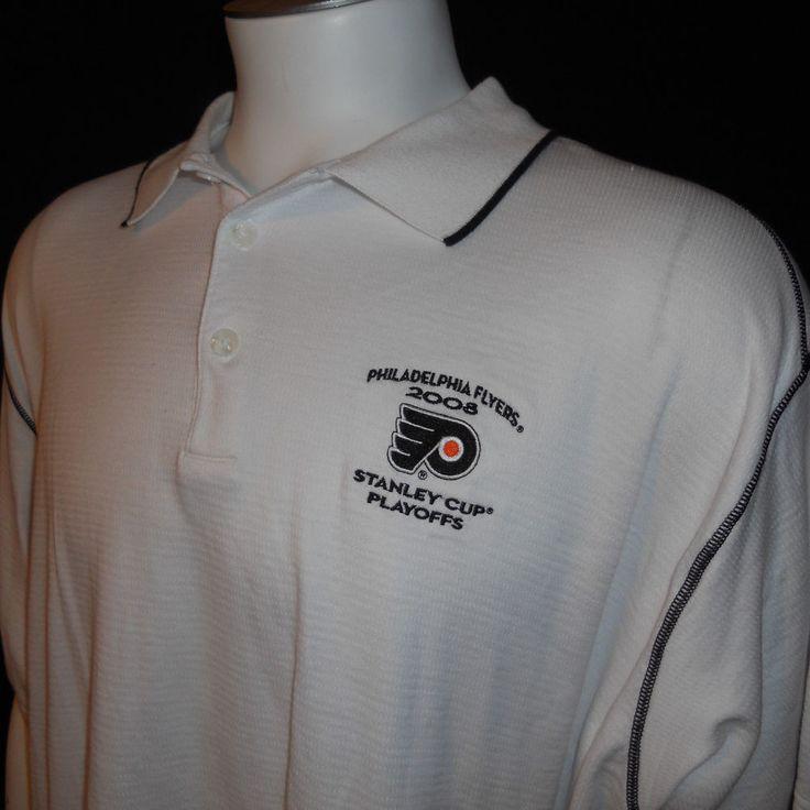 Philadelphia Flyers Polo Shirt XXL 2008 NHL Stanley Cup Playoffs Hockey #PhiladelphiaFlyers