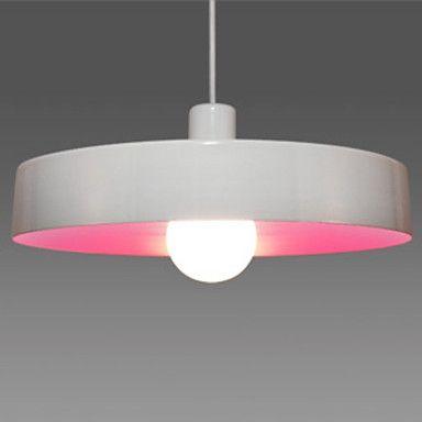 60W minimalista UFO Pendente Luz com tonalidade branca (cor 5 selecionável)