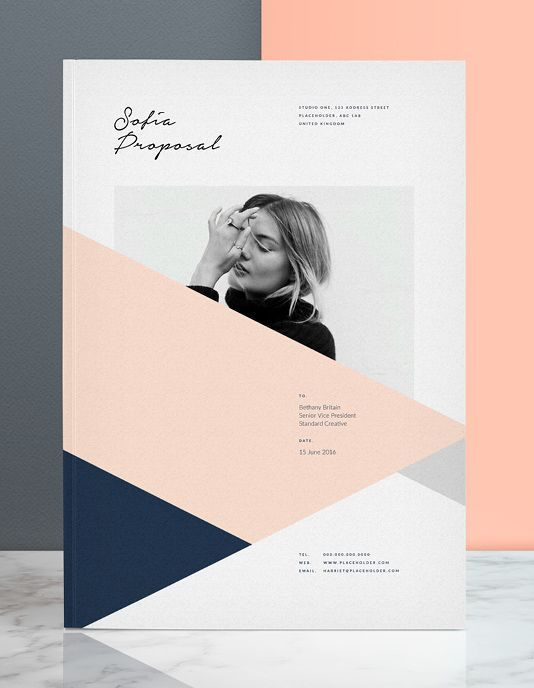 Get the client with the Sofia Pitch Pack, a pack including 7x Adobe Indesign templates to cover your client interactions from the introduction (covering letter and resume), to the pitch (brief, proposals, and estimates), to design (mood and design sheets) and finally through to billing (invoice).