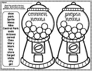 Common & Proper Nouns - Halloween Gumballs!