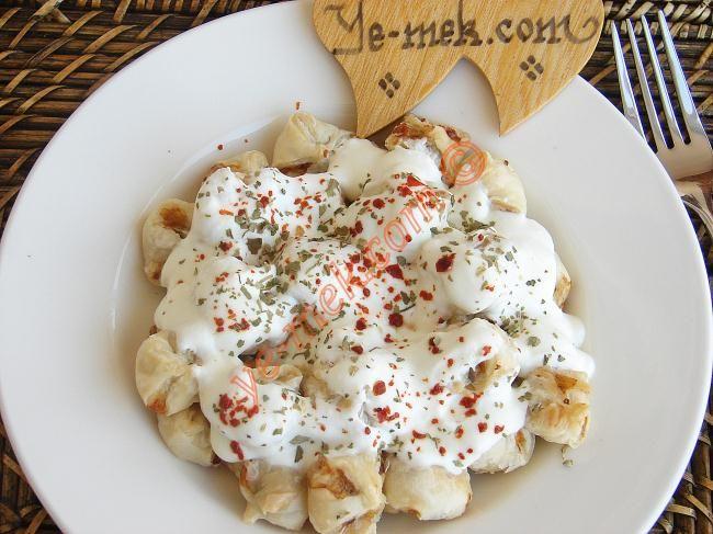 Fırında Milföy Mantı Resimli Tarifi - Yemek Tarifleri
