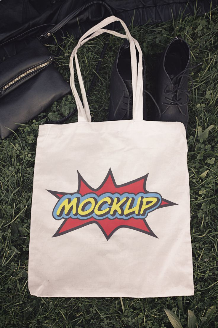 Premium Fabric Eco Bag Mockup goo.gl/5cVq0v