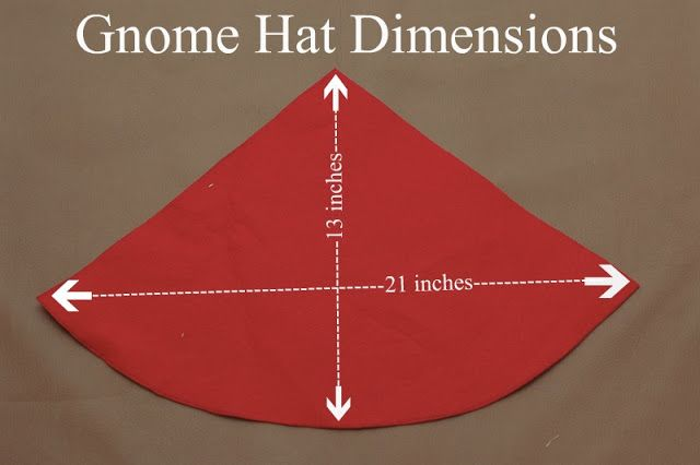 How to make a felt gnome hat. Also pics of the gnome themed party these were from.