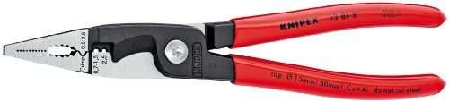Knipex Tools  13 81 8 4 in 1 Electrical Installation Pliers with Dipped Handle, Red KNIPEX Tools http://www.amazon.com/dp/B00DEMW7PM/ref=cm_sw_r_pi_dp_1WgZub1MS5ZY6