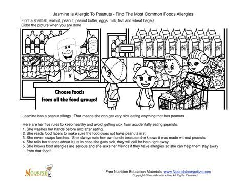 23 best Food Allergy Colouring Pages images on Pinterest | Food ...
