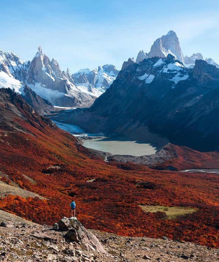 """6,272 Likes, 89 Comments - South America (@southamerica) on Instagram: """"Patagonia  Location: @taylormichaelburk overlooking Cerro Torre and the trail to Fitz Roy - El…"""""""