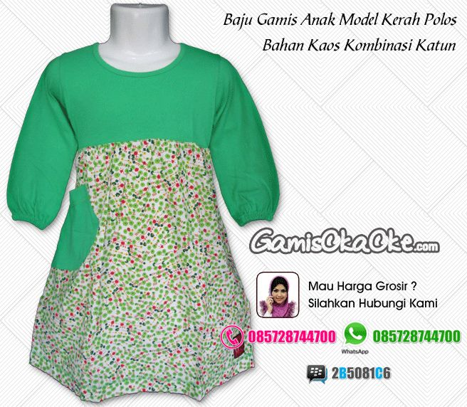 Baju muslim anak perempuan harga murah dengan bahan kaos katun berkualitas bagus model gamis terbaru. Untuk pemesanan silahkan hubungi kontak yang tertera di gambar atau bisa juga hubungi toko online kami di http://www.gamisokaoke.com