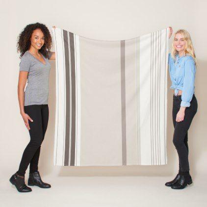 Modern Stylish Light Dark Brown Beige Pastel Color Fleece Blanket - elegant gifts gift ideas custom presents