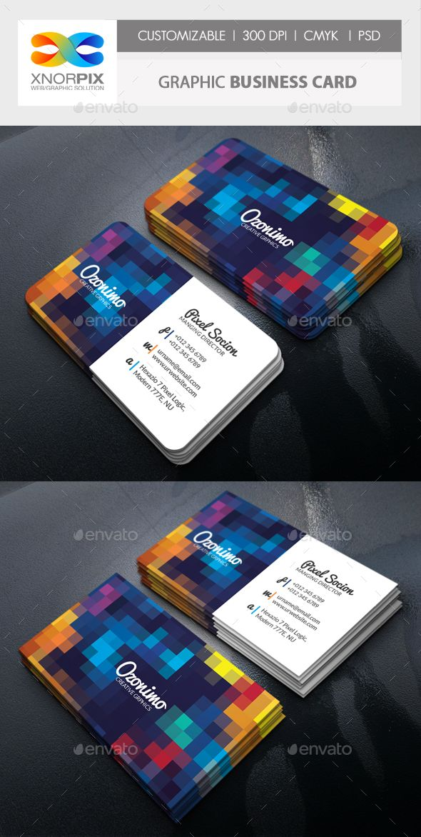 Graphic Business Card Template PSD