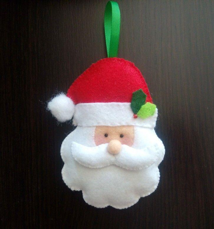 Santa Claus, Christmas ornaments, felt