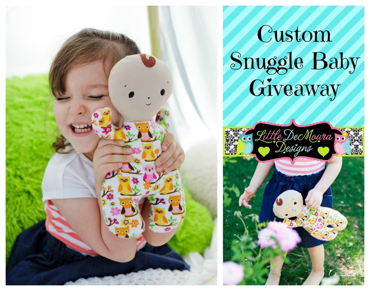 Come enter to WIN a Custom Made Snuggle Baby!