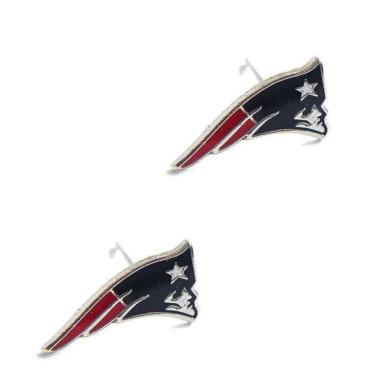 New England Patriots Logo Stud Earrings