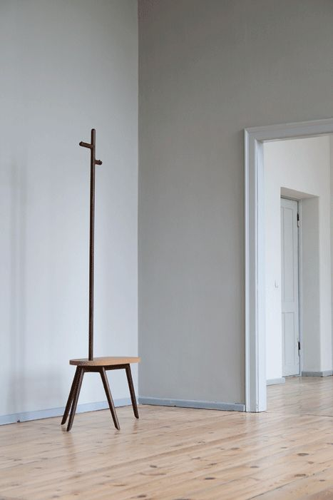 Frida (Florian Saul, 2013): a wardrobe that brings together a comfortable seat and a pole hanger for an interesting solution that facilitates the clothes changes and supports the user with style and elegance.